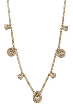 Givenchy Gold-Tone Collar Reade Collection Necklace Crystal Silk Champag... - $39.59