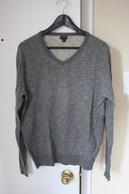 J. Crew Slate Gray Rugged 100% Cotton V-neck Sweater 65705 Men's Medium M - $27.72