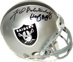 Fred Biletnikoff signed Oakland Raiders Replica Mini Helmet HOF 88 - $74.95