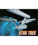 Star Trek: The Original Series Enterprise on a Blue Background Magnet NEW - $3.99