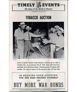 Tobacco Auction Moultrie GA Auctioneer Tom E Jones 1945 Press Photo Illu... - $18.99