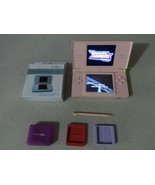 FULLY TESTED Original Nintendo DS Lite Pink Handheld System W/ Charger D... - $40.58