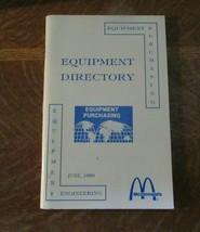 1989 McDonald's Equipment Directory Booklet-Purchasing/Engineering-100 P... - $8.95