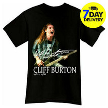 Cliff Burton Rock Band Tribute Black T-Shirt Cotton Size S-2XL - $13.99+
