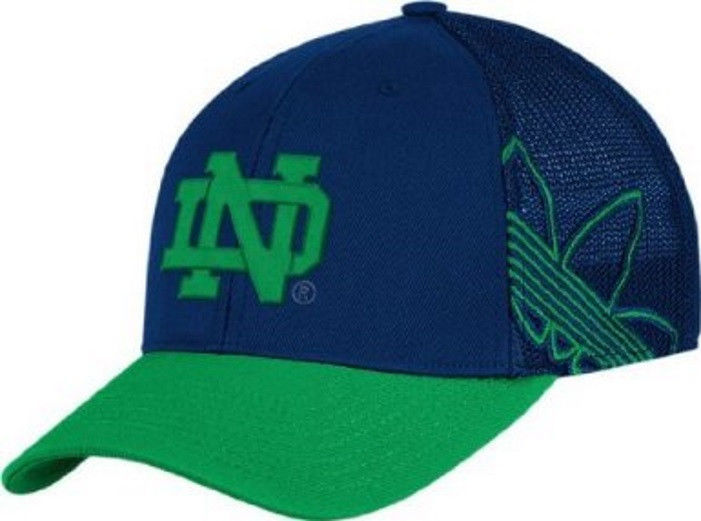 S/M Notre Dame Fighting Irish Hat Adidas Branded Logo Structured Flex Cap