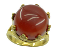 splendiferous Red Onyx Gold Plated Red Ring Natural supply US gift - $17.99