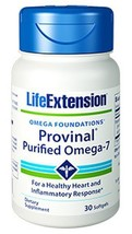 3 PACK Life Extension Provinal Purified Omega-7 fish oil heart inflammation - $43.00