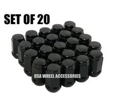 20pc Black Bulge Acorn Lug Nuts 1/2-20 Thread - $11.38