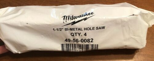 "Primary image for LOT OF 4 New Milwaukee 49-56-0082 1-1/2"" Hole Dozer Bi-Metal Hole Saw"