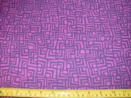 1/2 Yd Andover Quilt Fabric Square Chevron Geometric Purple Fuchsia Red ... - $4.99