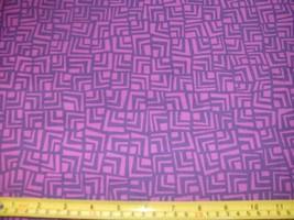 1/2 Yd Andover Quilt Fabric Square Chevron Geometric Purple Fuchsia Red Violet - $4.99