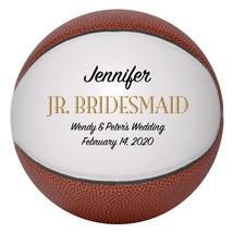 Junior Bridesmaid Mini Basketball Wedding Gift - Personalized Wedding Favor - $34.95