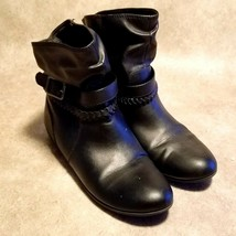 American Eagle Womens 170395 Sz 6.5 Black Leather Ankle Boots Booties - $24.99