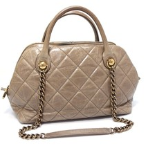 AUTHENTIC CHANEL Matelasse Chain Shoulder Bag Calf Leather - $1,320.00
