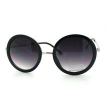 Circle Lens Round Sunglasses with Metal Bridge Pop Star Celebrity New - $10.48 CAD