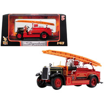1934 Leyland FK-1 Fire Engine Red and Black 1/43 Diecast Model by Road S... - $35.89