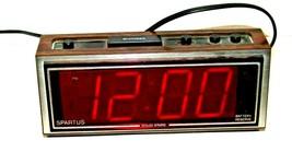 Vintage 1980's Faux Woodgrain Spartus Digital Alarm Clock Model 1099-61 - $11.76