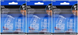 3 New! Hillman AnchorWire 4 lb. Plastic Heavy Duty Mirror Holder Kit 4 pk 122201 - $14.99