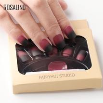 ROSALIND French False Nails Full Cover Natural Nail Art 3D Acrylic Fake ... - $8.65