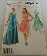 Simplicity Pattern 1689 Leanne Marshall Formal Dresses 2 lengths Prom D5... - $5.99