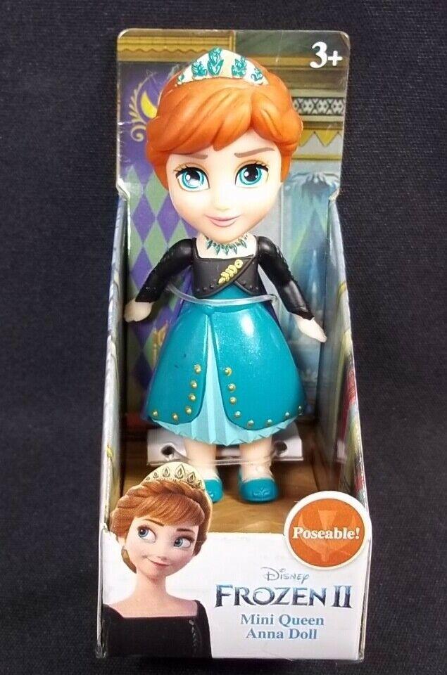 "Disney Frozen II Mini Queen ANNA poseable 3"" figure NEW - $9.70"