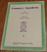 Vintage Sheet Music - Country Gardens - 1936 Edition - VGC - Cecil J. Sharp - $5.93