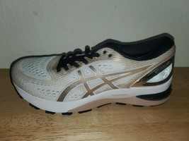 Asics Gel-Nimbus 21 Platinum White Frosted Almond Womens Run Shoes 1012A... - $93.06