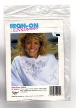 GREY LACE Golden Bee Cross Stitch Iron-on Fashions Transfer Kit #10214 NEW - $6.47