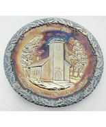 Fenton Carnival Glass 1970 Christmas Plate Little Brown Church in the Va... - $19.79