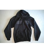 ESPN Full Zip Up Hoodie Jacket Black w Logo Mens Size Small Sports Outdo... - $24.02