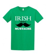 Irish I Had a Mustache Children's T-Shirt, St. Patricks Day Irish Shirt ... - $9.99+