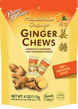 Prince of Peace Ginger Chews Candy with Mandarin Orange ( 100% Natural )... - $5.64
