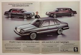1982 Print Ad 1983 Chrysler E Class New Yorker,Sedan,Executive Ricardo Montalban - $11.56
