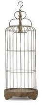 "Iron and Wood Bird Cage Lantern 41"" height - $149.00"