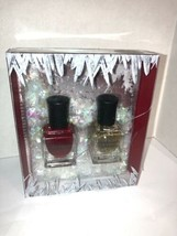 DEBORAH LIPPMANN ICE QUEEN LTD ED NAIL POLISH DUO SNOWFALL BOX free ship... - $12.00