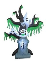 9 Foot Halloween Inflatable Tombstone Grave Ghost Tree Scene Yard Decora... - $119.00