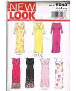 New Look 6040 Easy Dresses to Sew Size 8-18 - $8.99