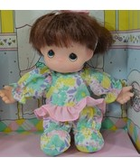 Precious Moments First Baby brunette Doll 1992 removable clothes nursery H4 - $24.77