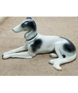 "1930s 40s Art Deco Goebel Porcelain Large 7"" Greyhound Whippet Dog - $256.41"