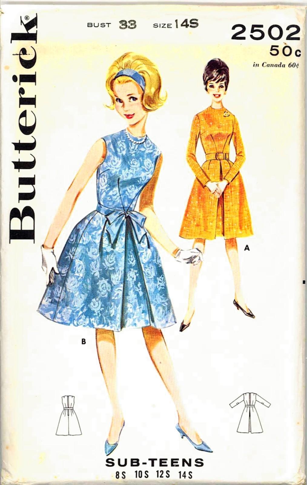 Store 81 b 2502 blue dress 14s 1961 unc