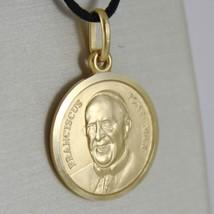 Anhänger Medaille Gelbgold 750 18K, Papa Francesco, 17 mm, Made in Italien image 2