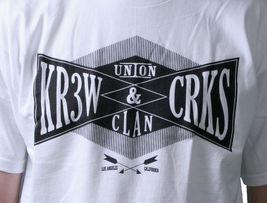KR3W x Crooks & Castles Colab Union Clan Black or White T-Shirt NWT image 7