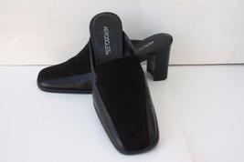 Aerosoles Black Leather Slides Mules Square Toe... - $22.74