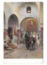 Africa Scene de Rue Donkey Native Costume Rommler & Jonas 1907 Postcard - $4.99