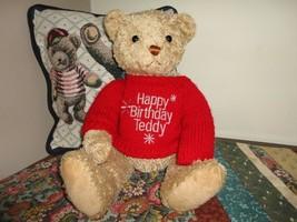 Gund Happy Birthday Teddy Bear 14 inch with Sweater - $83.60
