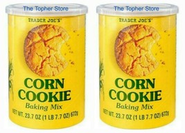 2 PACK New Trader Joe's Corn Cookie Baking Mix 23.7 oz Can, Exp 2022 - $29.86