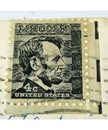 Prominent American Series Vintage Postage Abraham Lincoln 4 C Black 1965... - $20.00