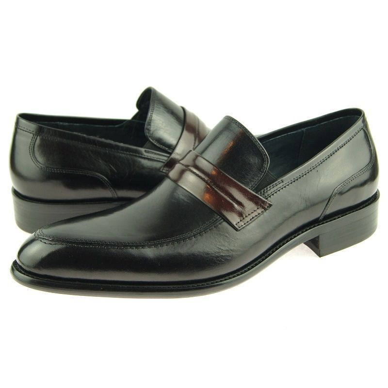Handcrafted Men Black Color Genuine Leather Moccasin Loafer Slip Ons Shoes