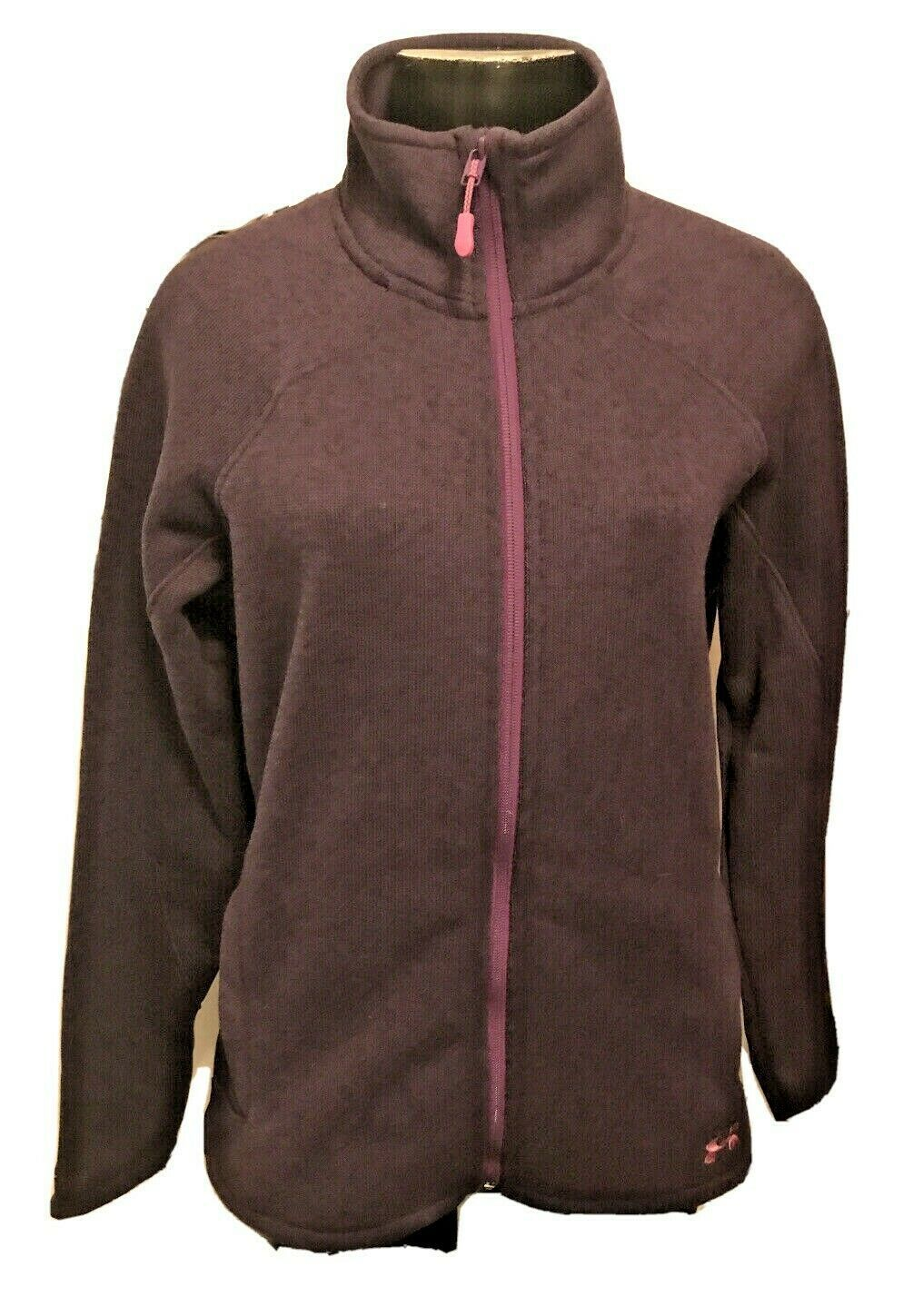 Primary image for Large Under Amour Fitted Coldgear Full Zip Womens Purple Jacket NWT