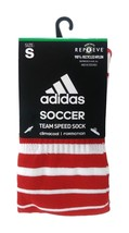 ADIDAS Climacool Soccer Team Speed Socks sz S Small (13C-4Y) Red White - $17.99